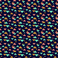 Geometric seamless pattern with triangles.