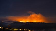 Sand Fire Above California Neighborhood