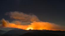 Sand Fire Smoke Over Mountains