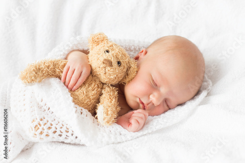 Fotografie, Tablou Newborn baby sleeping