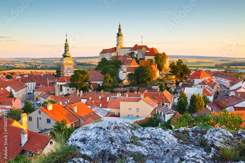 Town of Mikulov in Moravia, Czech Republic. Canvas Print