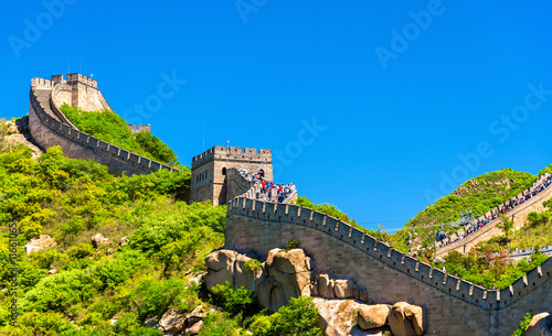 Poster Chinese Muur View of the Great Wall at Badaling - China