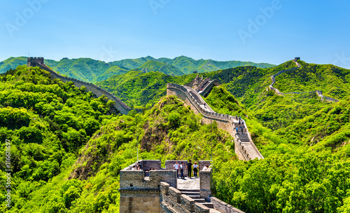 Stickers pour portes Muraille de Chine View of the Great Wall at Badaling - China