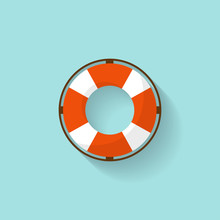 Lifebuoy In A Flat Style. Prot...