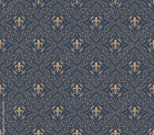 Tapeta ścienna na wymiar Seamless Pattern Royal