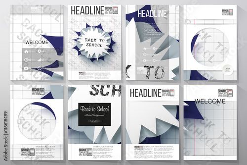 Set of business templates for brochure, flyer or booklet Poster