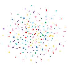 Vector Rainbow Confetti.