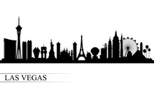 Las Vegas City Skyline Silhoue...