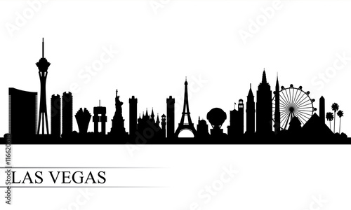 Photo Las Vegas city skyline silhouette background