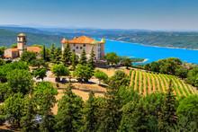 Aiguines Castle With St Croix ...