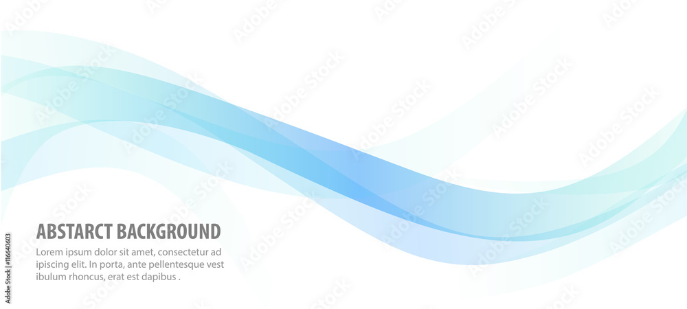 Fototapeta abstract blue line wave background