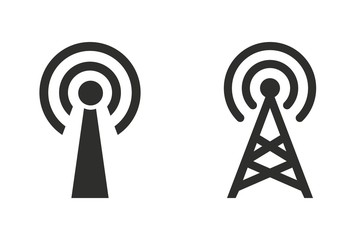 Communication tower - vector icon.