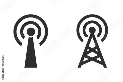Valokuva  Communication tower - vector icon.