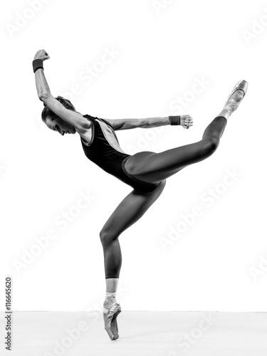Fényképezés  balerina posing in studio
