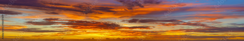 Fototapety, obrazy: Panoramic photos of sky at sunset - Thailand