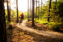 Mountain Biker Riding Cycling ...