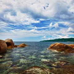 Fototapeta Morze Ocean and coastal cliffs - landscape
