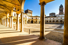 Details Of Palazzo Ducale On Piazza Castello In Mantua - Italy