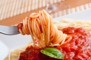 Fototapetaspaghetti à la sauce tomate