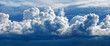 Leinwandbild Motiv Large cumulus cloud - a panoramic photo