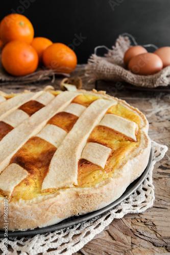 Fotografia, Obraz  Original Easter cake Neapolitan Pastiera