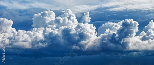 Acrylic Prints Heaven Large cumulus cloud - a panoramic photo