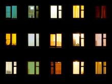 Night Windows - Block Of Flats...