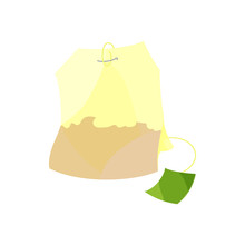 Teabag Icon In Cartoon Style I...
