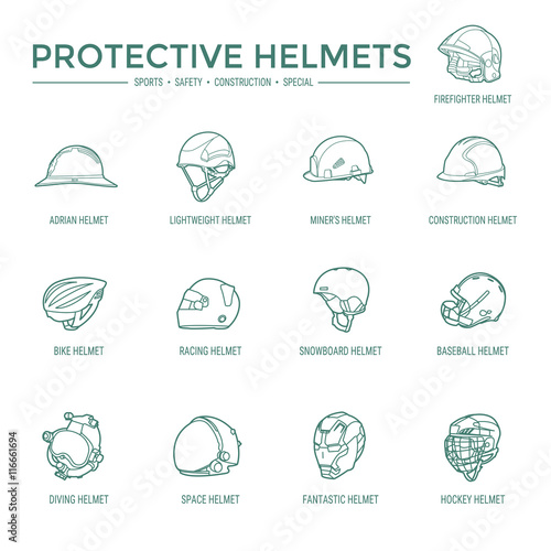 Photo  Protective Helmets Icons