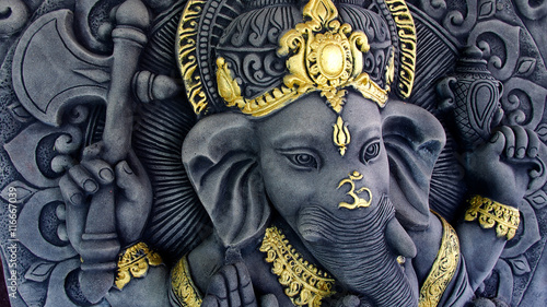 Obraz na plátně  Ganesha Sculpture Statue