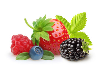 Summer berry fruits.