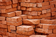 Construction Material - Stack Of Bricks