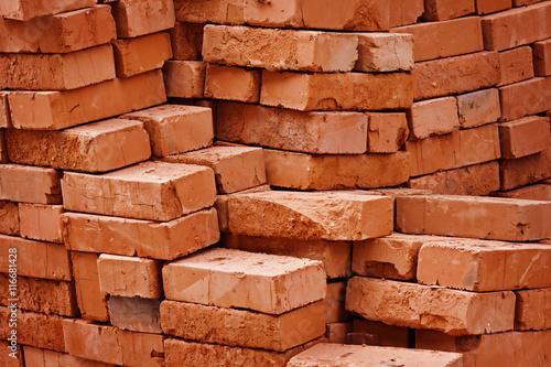 Construction material - stack of bricks - 116681428