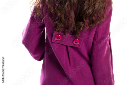 Photo  Back view of purple coat