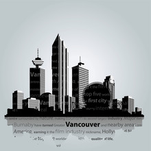 Vancouver Vector Cityscape.