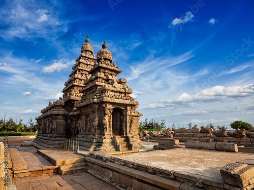 Obraz na plátne  Shore temple - World heritage site in Mahabalipuram, Tamil Nad