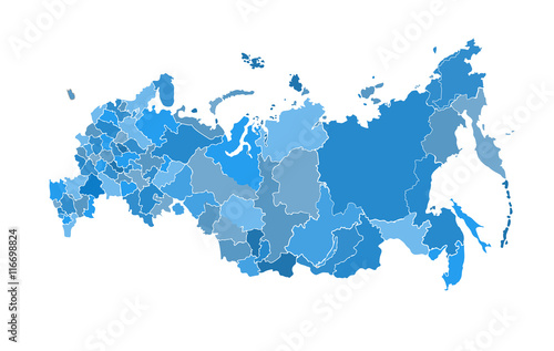 Russia map Canvas Print