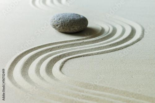Deurstickers Stenen in het Zand Zen stone garden