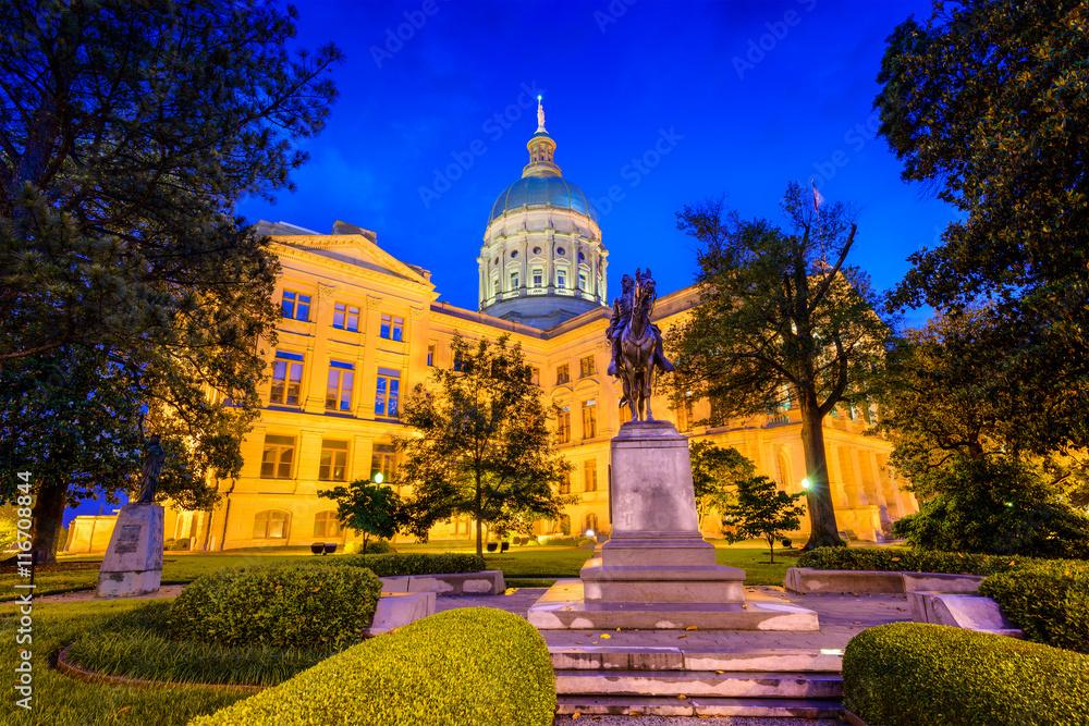 Fototapety, obrazy: Georgia State Capitol in Atlanta, Georgia, USA.