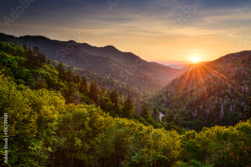 Foto auf Gartenposter Hugel Newfound Gap in the Smoky Mountains