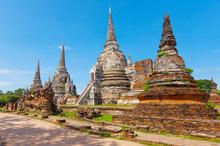 Wat Phra Si Sanphet Temple. Phra Nakhon Si Ayutthaya Province, T
