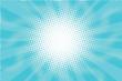 Blue Sunny haze pop art retro vector background
