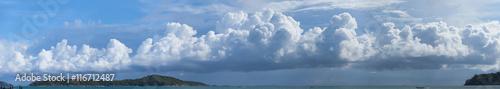 Fotografering  Beautiful Panorama of Storm Clouds Building over a Tropical Para