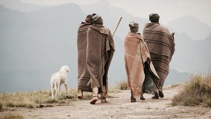 Lesotho Drakensberge Schäfer