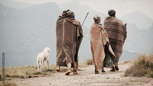 Stampa su Tela  Lesotho Drakensberge Schäfer