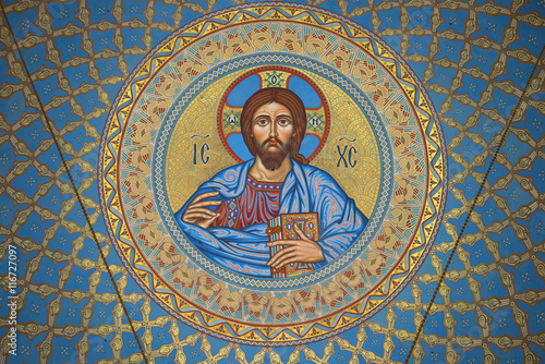 Cuadros en Lienzo The image of Jesus Christ on the inside of the dome in the St