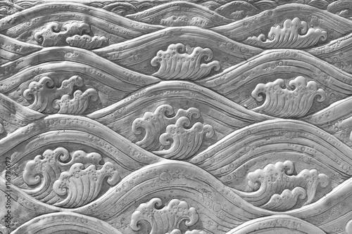 Staande foto Kunstmatig The art and pattern of carving silverware.