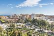 Panoramic view of Malaga. Bullring. Spain