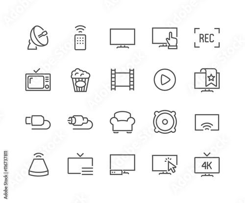 Photo  Line TV Icons