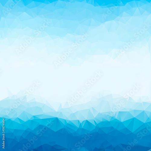 Light Blue Bright Triangle Polygon Background Frame